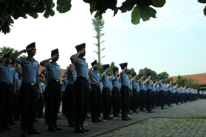 Kegiatan Apel Pagi di SMK N 29 Jakarta